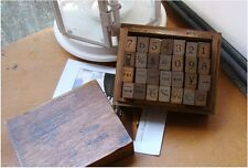 Korea Antique Number Weather Day Wood Mounted Rubber Stamp Box Set- 28 Pieces AB