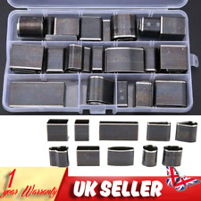 39pcs Steel Hole Punch Tool Round Square Oval Holes Cutter Leather Craft + Box