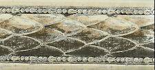 MODERN ARCHITECTURAL FISH SCALE DESIGN-BROWN, BEIGE, SILVER WALLPAPER BORDER