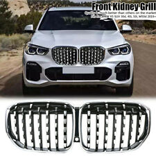 Glossy Chrome Front Kidney Grille Grill Performance For BMW G05 X5 SUV 2019-2020