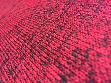 HEAVY QUALITY Red Black Slub KNITTED KNIT Jersey Stretch Dressmaking Fabric