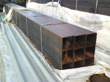 "2 IDEAL INDUSTRIAL GATE POSTS ETC . BOX SECTION STEEL APPROX 7"" X 7"" X 11FT LONG"