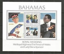 BAHAMAS 1981 ROYAL WEDDING MINISHEET SG,MS588 U/M NH LOT 30L