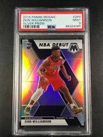 ZION WILLIAMSON 2019 PANINI MOSAIC #269 SILVER REFRACTOR PRIZM ROOKIE RC PSA 9