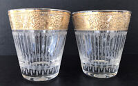 Vintage Culver Tyrol 22K Gold Encrusted Double Old Fashioned Cocktail Glasses 2