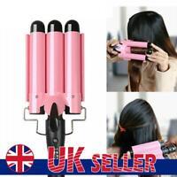 Triple Barrel Ceramic Hair Curler Curling Salon Styler Crimper Waver Tools