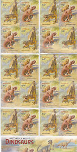 2013 Australia's Age of Dinosaurs 20 x 60c Stamp Booklet SB449 (Phil Barcode)