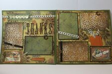 Thanksgiving ~  2 pre-made scrapbook pages paper piecing layout