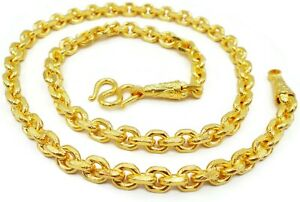 9MM Chain Necklace 23K 24K Thai Baht Gold Filled Yellow GP 26 inch Men's Jewelry