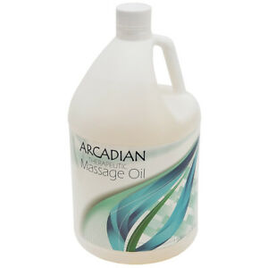 NEW! UNSCENTED ARCADIAN THERAPEUTIC DEEP TISSUE MASSAGE OIL - 1 GALLON - MINERAL