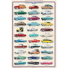 *NEW* Educational AMERICAN AUTOMOBILES CARS 1950 - 1959 Chart Wall Poster