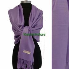 Women Soft 2ply PASHMINA/Cashmere Classic SHAWL Scarf Stole WRAP Lavender#1t