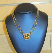 David Yurman 925 Citrine Diamond Albion Necklace 16'' * Pre-owned* FREE SHIPPING