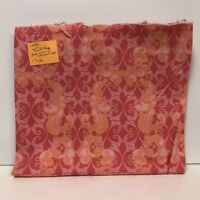 "Nochella Fabric Top Drawer TD20 Lattice Pink Orange Filigree 44"" x 1-1/8 yards"