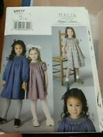 Vogue 9177 Malia Janveaux for Kathryn Brenne Girls Smocked Dress Pattern 6-8 UC