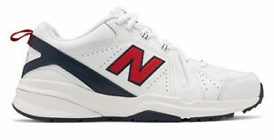 New Balance Men's 608v5 Shoes White with Red