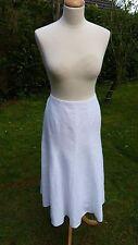 Viyella white linen skirt fully lined size 12                               (C3)
