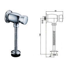 Brass Toilet Button Type Manual Delay Shut off / Urinal Flush Valve