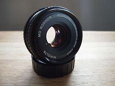 MINOLTA MD ROKKOR 45mm F2.0 Obiettivo Pancake-Pellicola che digitale