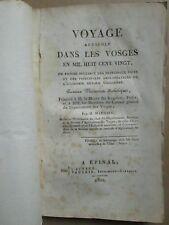 MATHIEU : VOYAGE AGRICOLE DANS LES VOSGES, 1821.