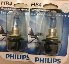 HB4  PHILIPS BLUEVISION ULTRA POWER CAR BULBS PHILIPS HB4 BLUE VISION ULTRA 9006