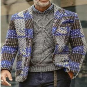Men's Youth New Fashion Printed Lapel Multicolor Casual Blazer Jacket Coat SKGB