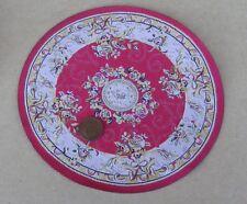 1:12 Scale 17cm Diameter Red Round Rug Tumdee Dolls House Miniature Carpet 6846