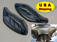 Smoke Adjustable Side Wing Air Deflectors Fairing For Harley Touring FLHT 96-13