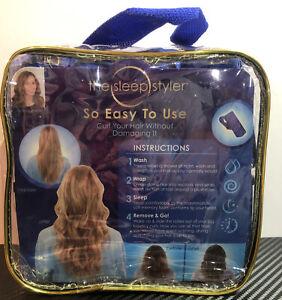 "THE SLEEP STYLER The Nighttime Hair Curlers Mini 3""-12 count Curly Hair"