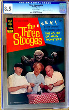 THE THREE STOOGES #54 a 1972 GOLD KEY comic CGC 8.5 graded PHOTO COVER