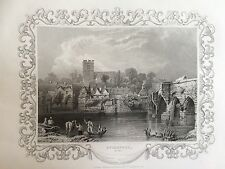 1834 Antique Print: A view of Aylesford in Kent