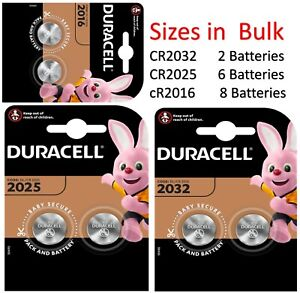 DURACELL CR2032 | 2025 | 2016 |  Battery Coin Cell Button 3v Lithium
