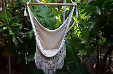 Hanging Hammock Chair Handmade Hanging Chair Cotton Rope Porch Swing Seat With W