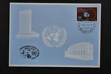 ONU UNO Ginebra Nancy 1980 Especial Frank Tarjeta Azul 8/3/1980 Blaue tarjeta