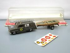 Majorette No.362 Dodge Military Fire Truck With Boat On Trailer - Boxed