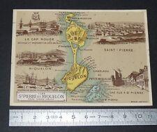 CHROMO BON-POINT HACHETTE 1885 GEO COLONIES FRANCE ST PIERRE & MIQUELON
