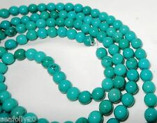 "1 x 16"" strands x 8mm round Genuine Natural Turquoise Beads - free post"