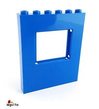 LEGO Wall Panel 1X6X6 with Window Cutout NEW 15627 Blue