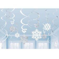 Decoración de Navidad blancos Amscan
