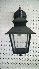 LAMPIONE LANTERNA LAMPADA DA ESTERNO APPLIQUE A PARETE 10W CM18X37 ALLUM.-VETRO