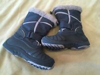 Kamik Boots 1 Boys Girls Snow Winter Navy Blue Flaw
