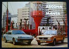 OPEL ASCONA & MANTA Car Sales Brochure 1976 #AMB77.9.76 DE LUXE Berlinetta SR