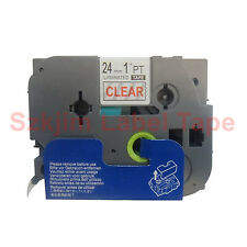 TZ-152 Red on Clear Label Tape 24mm 8m Compatible to Brother TZe-152 P-touch
