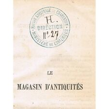 Le MAGASIN D'ANTIQUITÉS Charles DICKENS Traduction de A. Des ESSARTS 1876 Tome 2