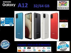 New Samsung Galaxy A12 32GB 64GB 12GB 2021 DualSim Unlocked Black Blue Red White