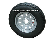 Eco-Trail ST205/75D15 LRC Bias Trailer Tire & Wheel Silver Mod 5-5.0