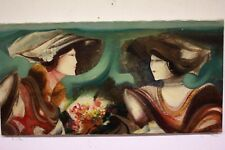 Dipinto quadro tecnica mista Franco Brescianini '90 firmato 50 x 100 painting