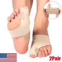 2 Pair Pro Gel Bunion Corrector Toe Separator Correction Hallux Valgus Foot Care