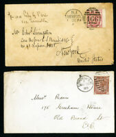 Great Britain Stamps 2x Early Covers from 1880's