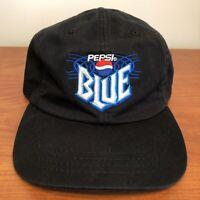 Pepsi Blue Hat Baseball Cap Strapback Black Beverage Drink Soda USA Logo